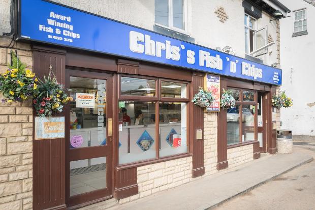 Chris's Fish n Chips, Barwell shopfront