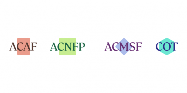 Decorative only: the four logos of the committees of the Science Advisory Committees