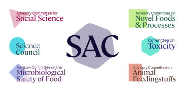 The Science Advisory Committee logo with the six other committee logos