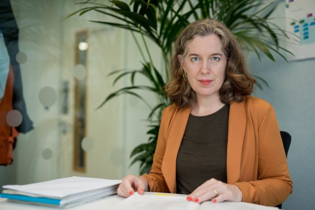 Emily Miles, Chief Executive of the Food Standards Agency, sat at a desk