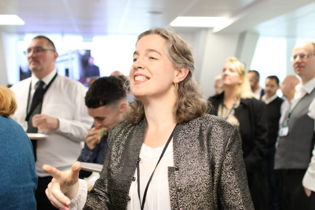 Emily Miles, Chief Executive of the Food Standards Agency, in a crowd