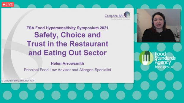 Helen Arrowsmith, Allergy symposium